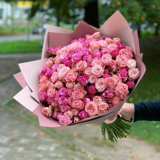 Микс кустовой розы