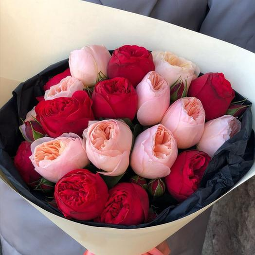 """Букет """"Микс из Ред Пиано и Джульетта"""": букеты цветов на заказ Flowwow"""