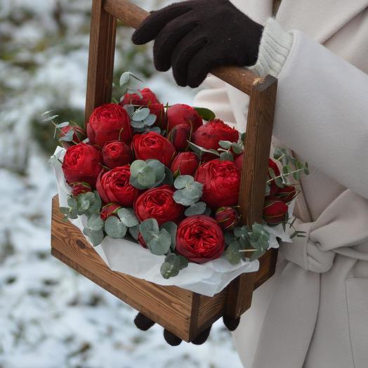 """Цветы в ящике """"Танго"""": букеты цветов на заказ Flowwow"""