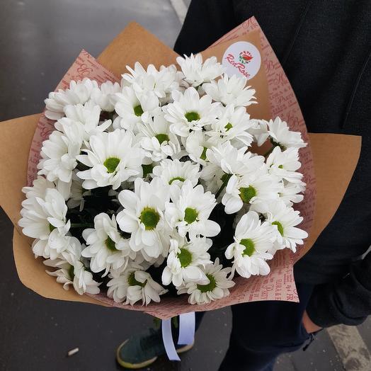Букет из белых хризантем: букеты цветов на заказ Flowwow