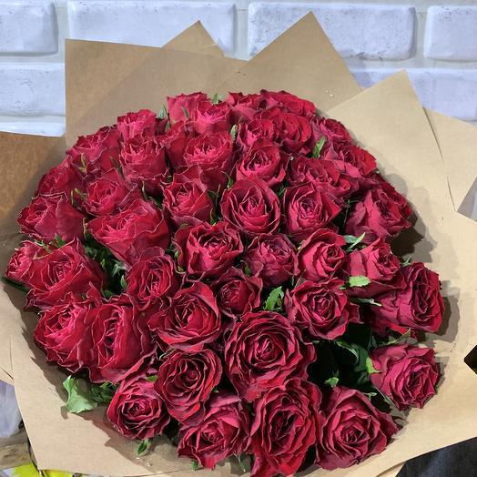 Букет из красных 45 роз: букеты цветов на заказ Flowwow