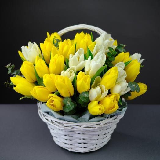 Лукошко из Тюльпанов Premium