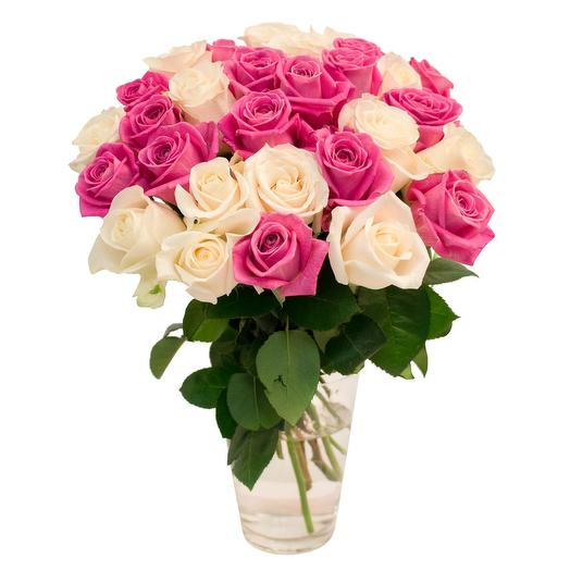 Розы микс: букеты цветов на заказ Flowwow