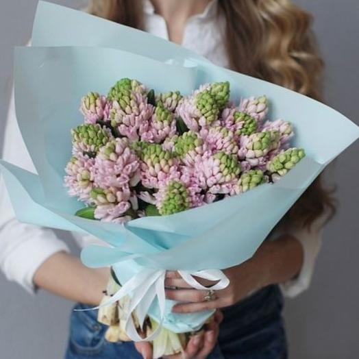 Букет  из ароматных гиацинтов: букеты цветов на заказ Flowwow