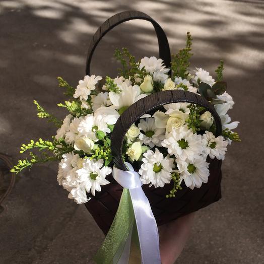 Ромашковое лукошко: букеты цветов на заказ Flowwow