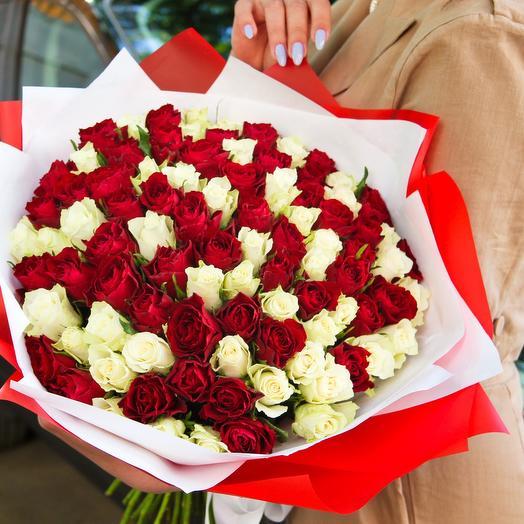 101 микс, 40см: букеты цветов на заказ Flowwow