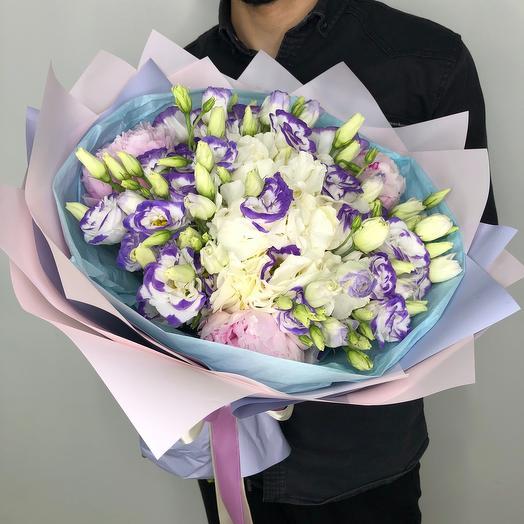 «Небесный сапфир» XXL: букеты цветов на заказ Flowwow