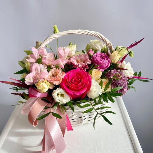 Корзина с цветами «Моей принцессе!»