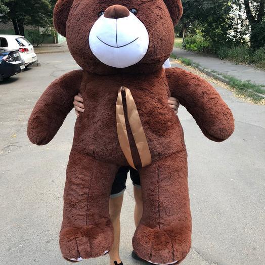 Плюшевий ведмедик 160 см коричневий