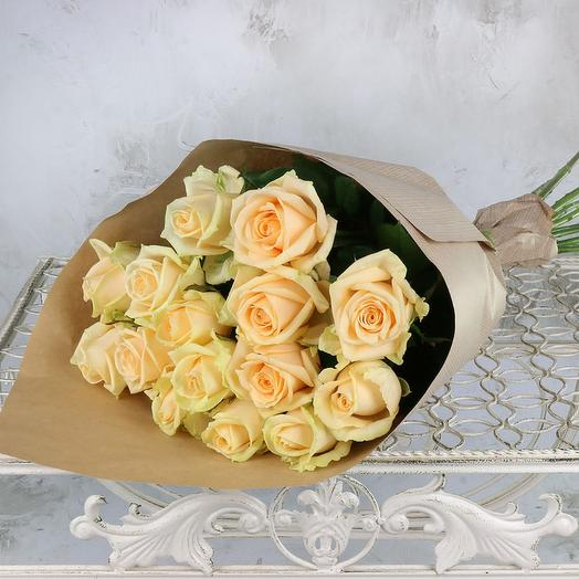 15 роз Пич Аваланж