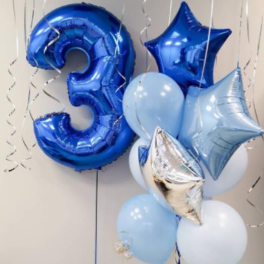 Воздушные шары для мальчиков с цифрой