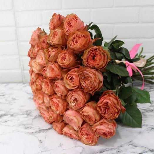 Букет из 51 пионовидной розы
