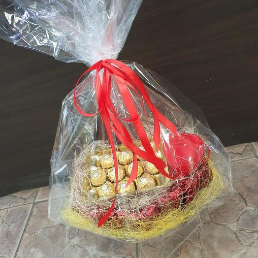 Sweet heart with Ferrero Rocher candies