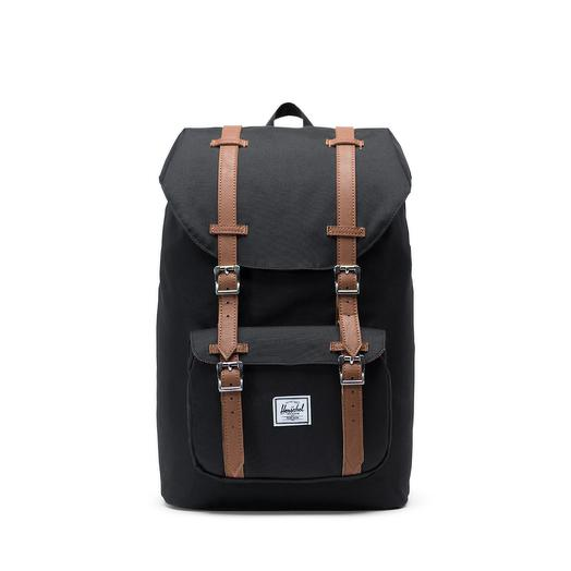 Рюкзак Herschel Herschel Little America Mid-Volume Black/Tan Synthetic Leather  Herschel 10020-00001-OS