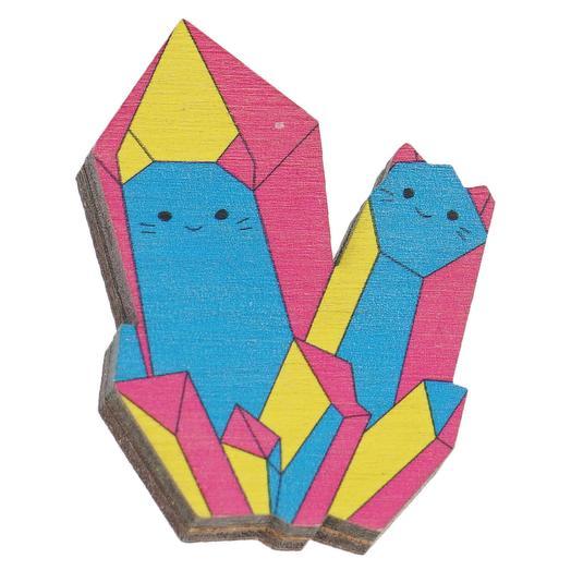 """Брошь 2tree """"Котики-кристаллы"""""""