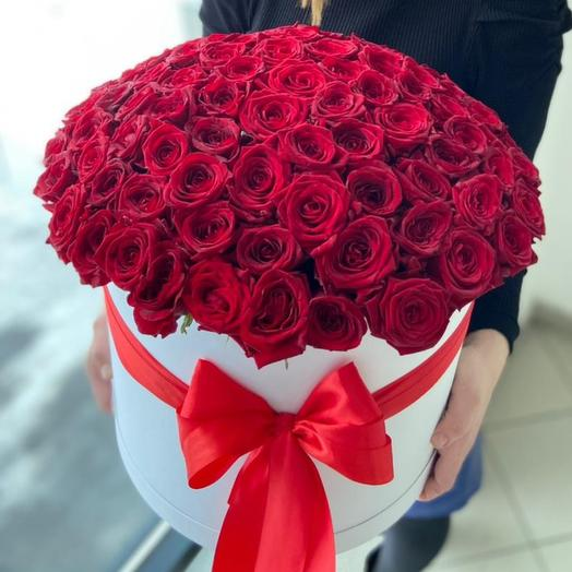 Красная роза 101 шт в коробке XXL
