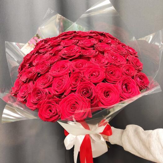 ✅ Букет Красных роз 51 Красная *Королева* 👑