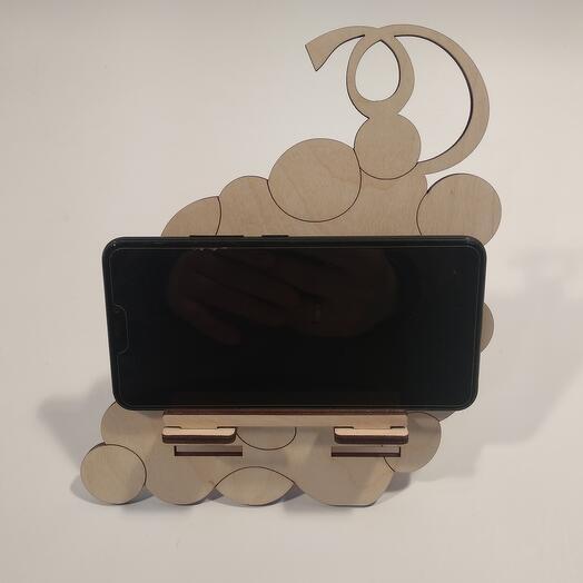 "Подставка под телефон  ""Виноград "" 181x203мм подставка под планшет, подставка под книгу"