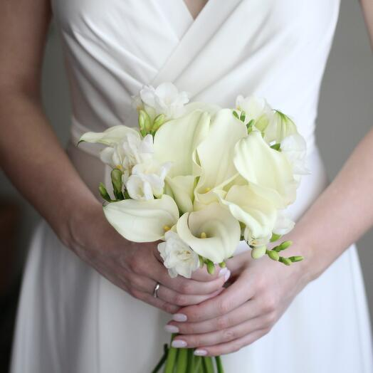 Свадебный Каллы+Фрезия