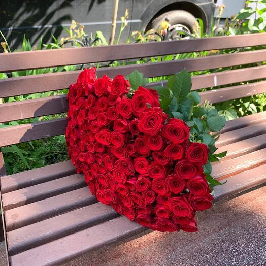 101 Красная Роза (70см)