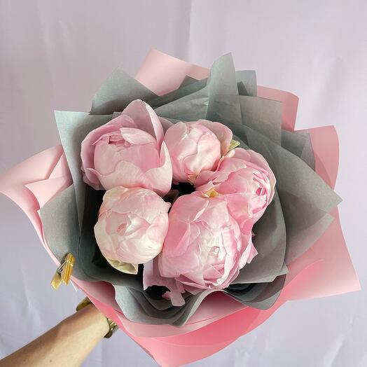 Пион розовый 5
