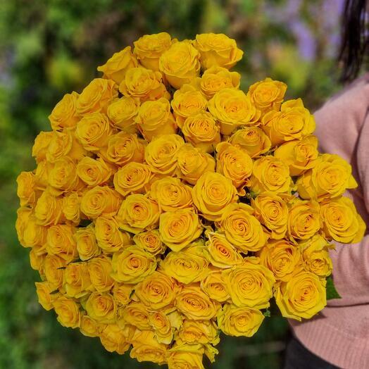 Роза Эквадор 90 см 75 шт