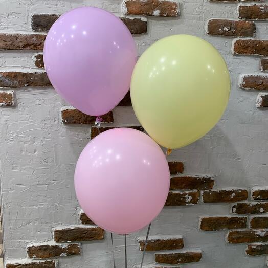 Воздушные шары макарун 3 шт