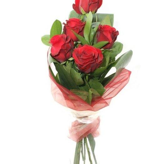 Каскад из 5 роз