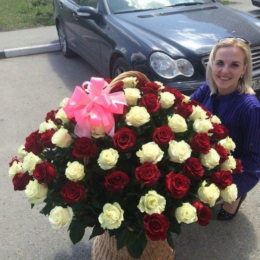 Корзина цветов 3: букеты цветов на заказ Flowwow
