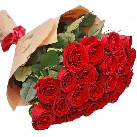 Букет из 15 красных роз Моей королеве