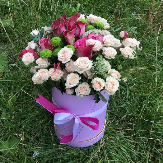 Коробка Экзотический поцелуй: букеты цветов на заказ Flowwow