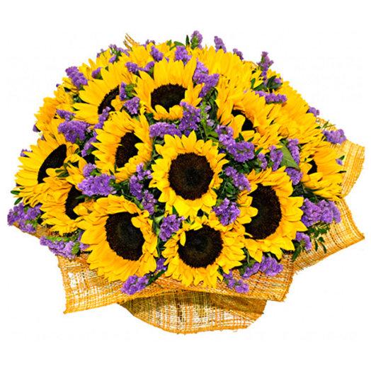 Букет подсолнухов Вильфранш: букеты цветов на заказ Flowwow