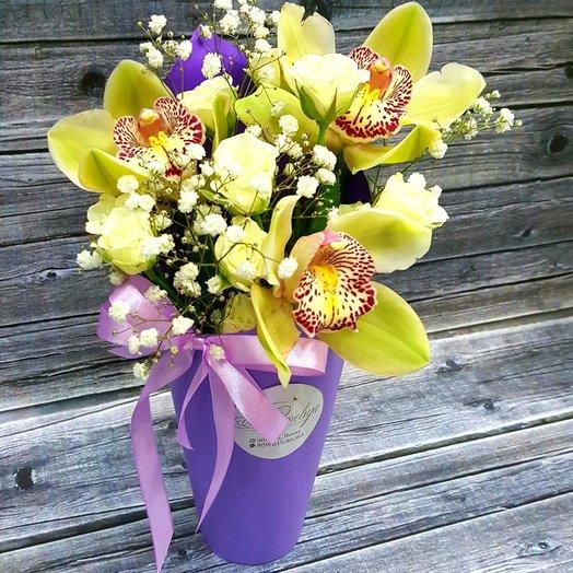Композиция из орхидеи ко Дню Матери