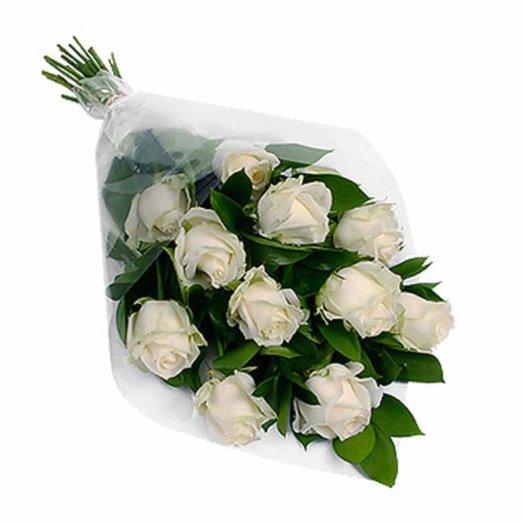 """Букет белых роз """"Прелесть"""""""