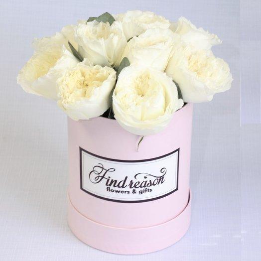 """Шляпная коробка """"Крылья ангела"""": букеты цветов на заказ Flowwow"""