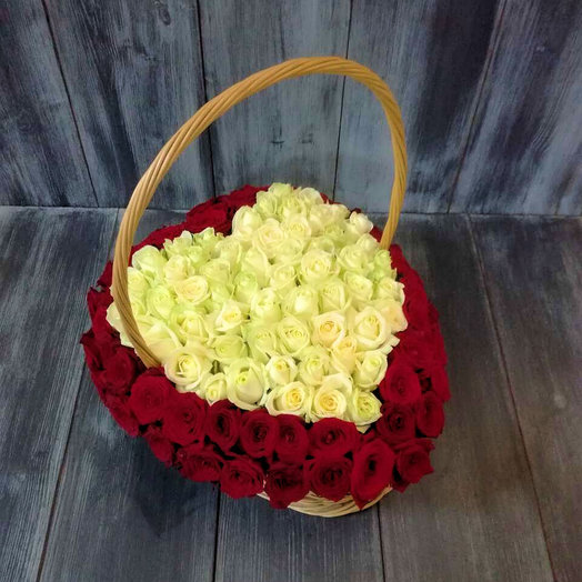 Большое сердце: букеты цветов на заказ Flowwow