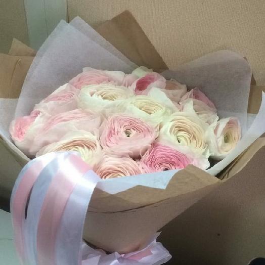 Ранункулюсы 15шт: букеты цветов на заказ Flowwow