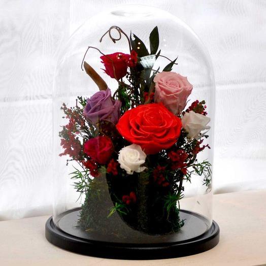 """Я ДАРЮ ТЕБЕ СВОЕ СЕРДЦЕ"" - БУТОНЫ, МОХ И ДЕКОР: букеты цветов на заказ Flowwow"