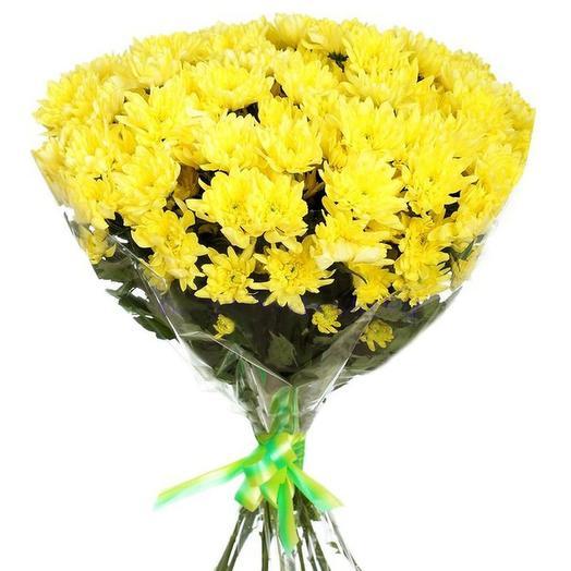 7 желтых кустовых хризантем
