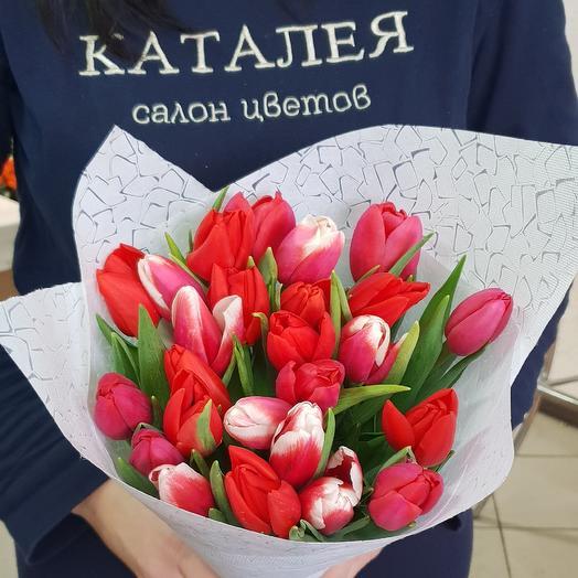 25 тюльпан К 8 марта: букеты цветов на заказ Flowwow