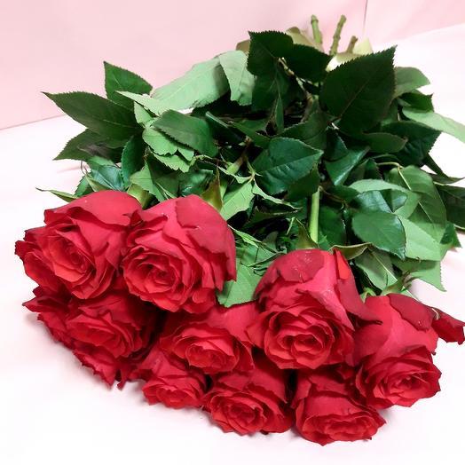 11 роз 60 см под ленту в день влюбленных: букеты цветов на заказ Flowwow