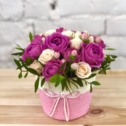 "Корзинка ""Милашка"": букеты цветов на заказ Flowwow"