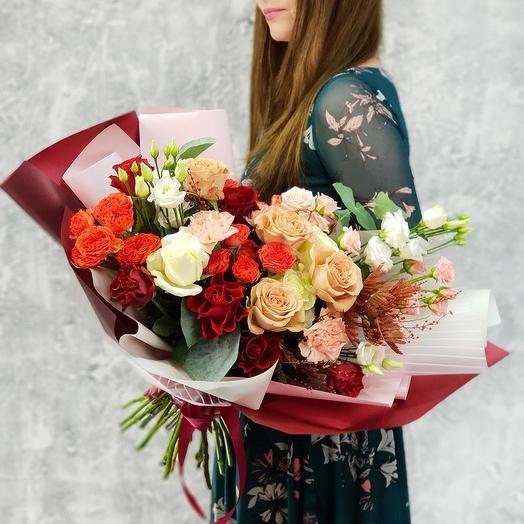 Большой оригинальный букет Дивный вечер: букеты цветов на заказ Flowwow