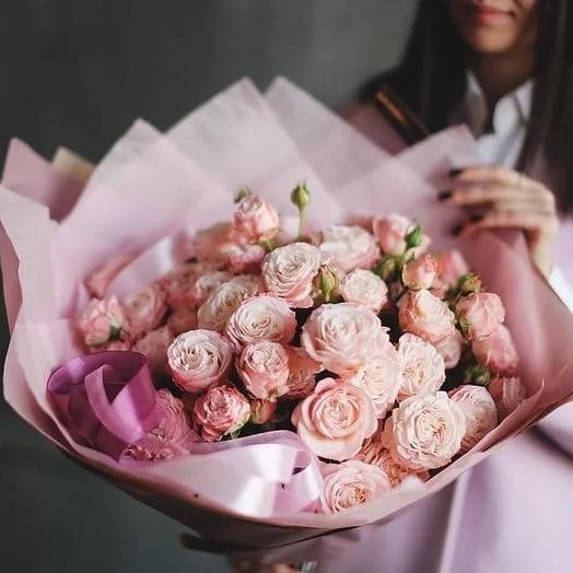 Пионовидная красотка: букеты цветов на заказ Flowwow