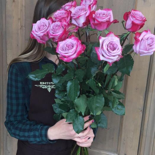 """Букет из роз """"фиолетовая розочка 11"""""""