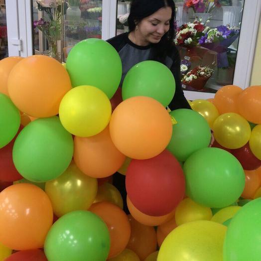 Облако шаров: букеты цветов на заказ Flowwow