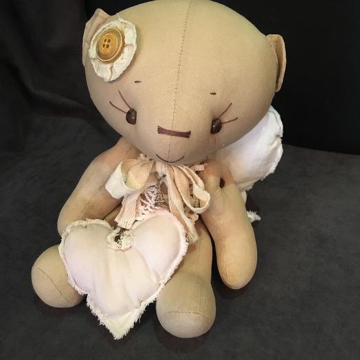 Мишка-ангелочек: букеты цветов на заказ Flowwow