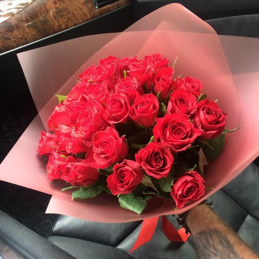 Букет из 29 роз Кения: букеты цветов на заказ Flowwow