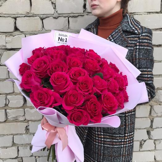 """35 Ecuadorian roses, """"Mother 1 in the world"""": flowers to order Flowwow"""