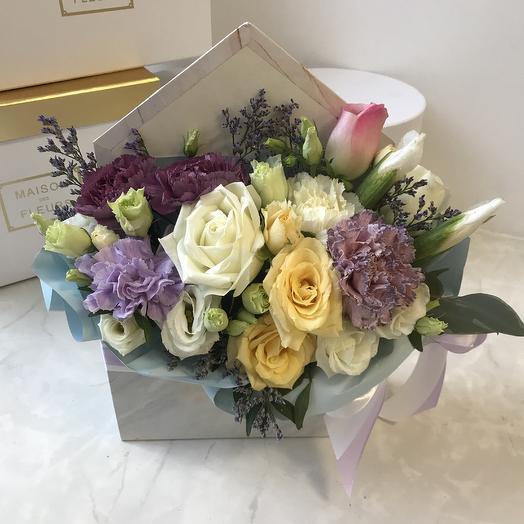 Цветочный конвертик 3: букеты цветов на заказ Flowwow